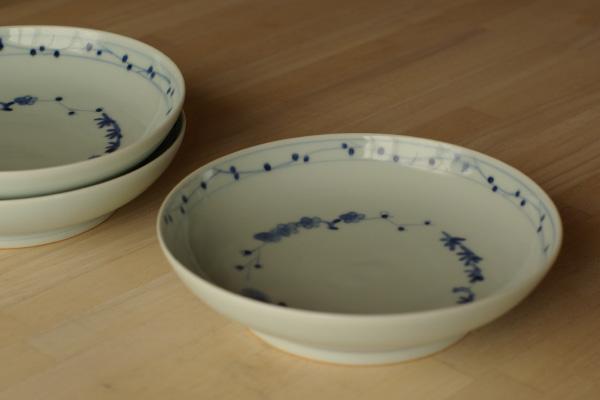 松竹梅文6寸鉢