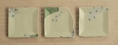 齋藤まゆ 豆皿  約9cm角、高さ0.7cm 2,310円